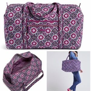 Vera Bradley LARGE Duffel Travel Bag